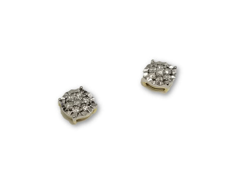 Luxury Style Earrings 0.33ct de diamants en or 10k