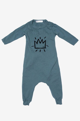 Joah Love Baby Teddy Crown Romper (Size 3M left)