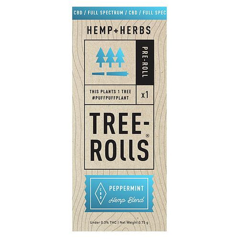 Tree-Rolls Peppermint CBD Pre-roll