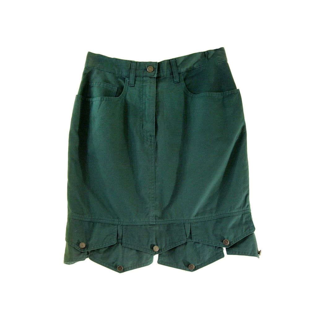 MOSCHINO Green Denim Skirt