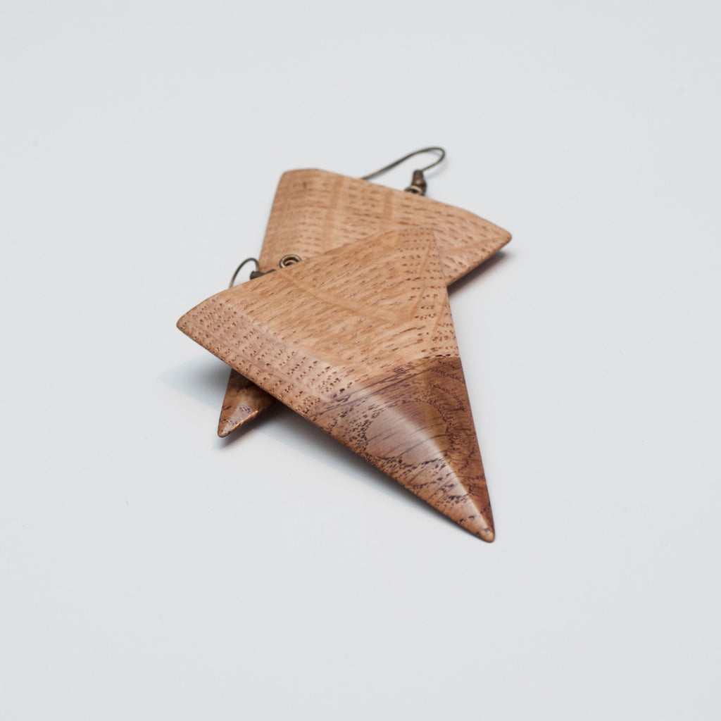 Wooden Earrings by Bumbar_t