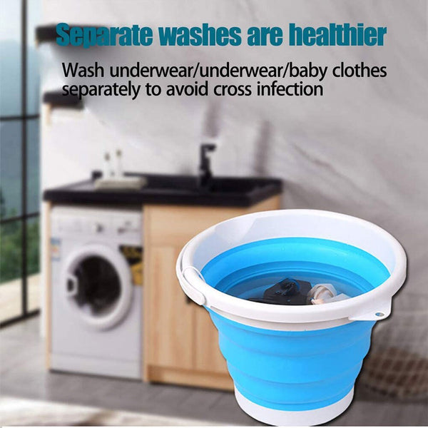 Mini Washing Machine Folding Laundry Tub Basin Portable Mini Washing Machine Automatic Clothes Washing Bucket