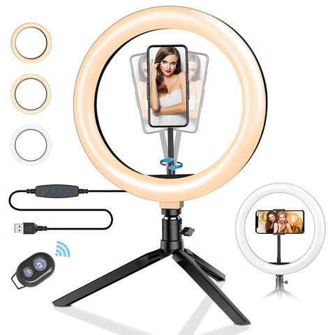 LED Ringlight Flash Lamp with Tripod