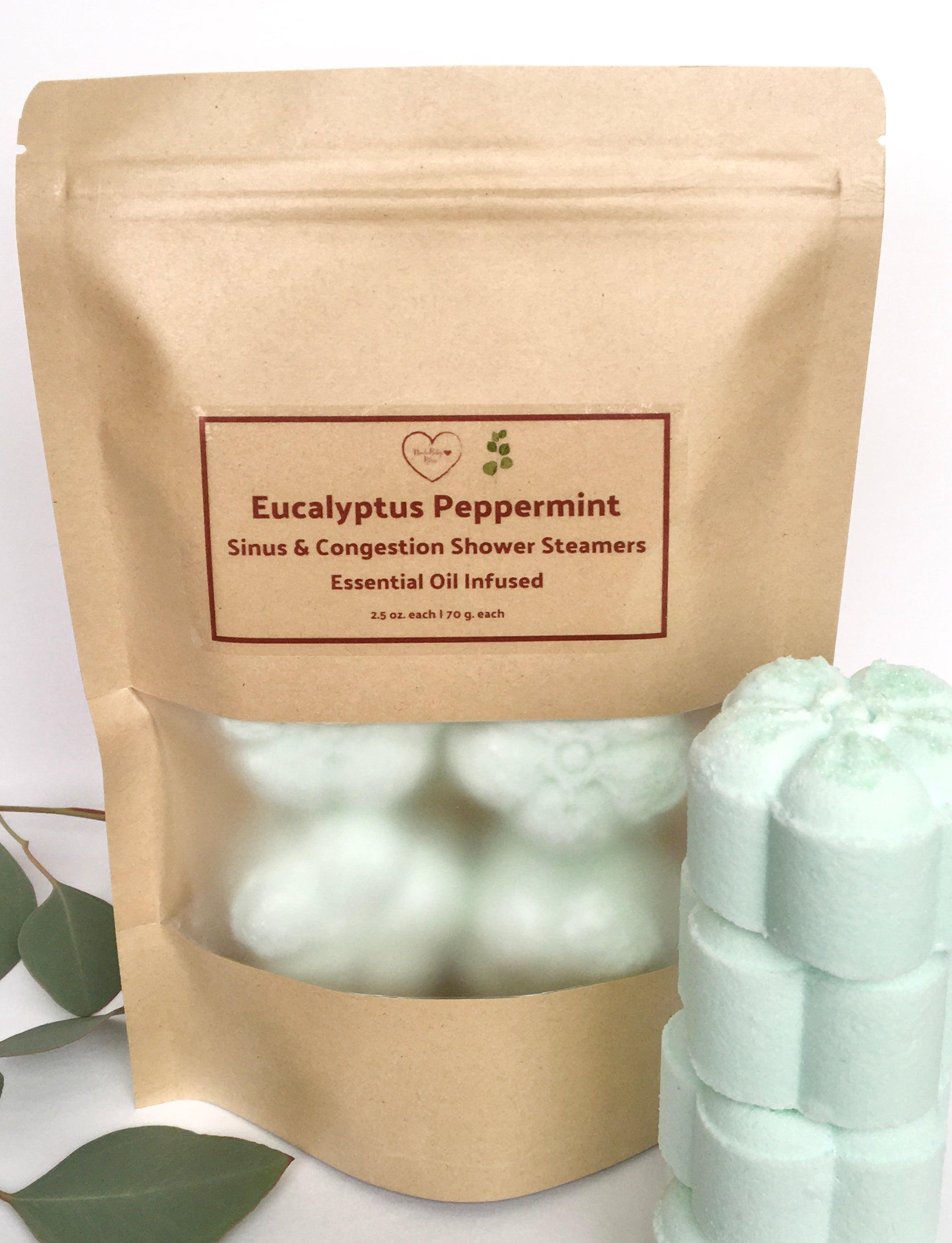 Eucalyptus Peppermint Shower Steamers | Sinus & Congestion - 4 pack |  8 pack