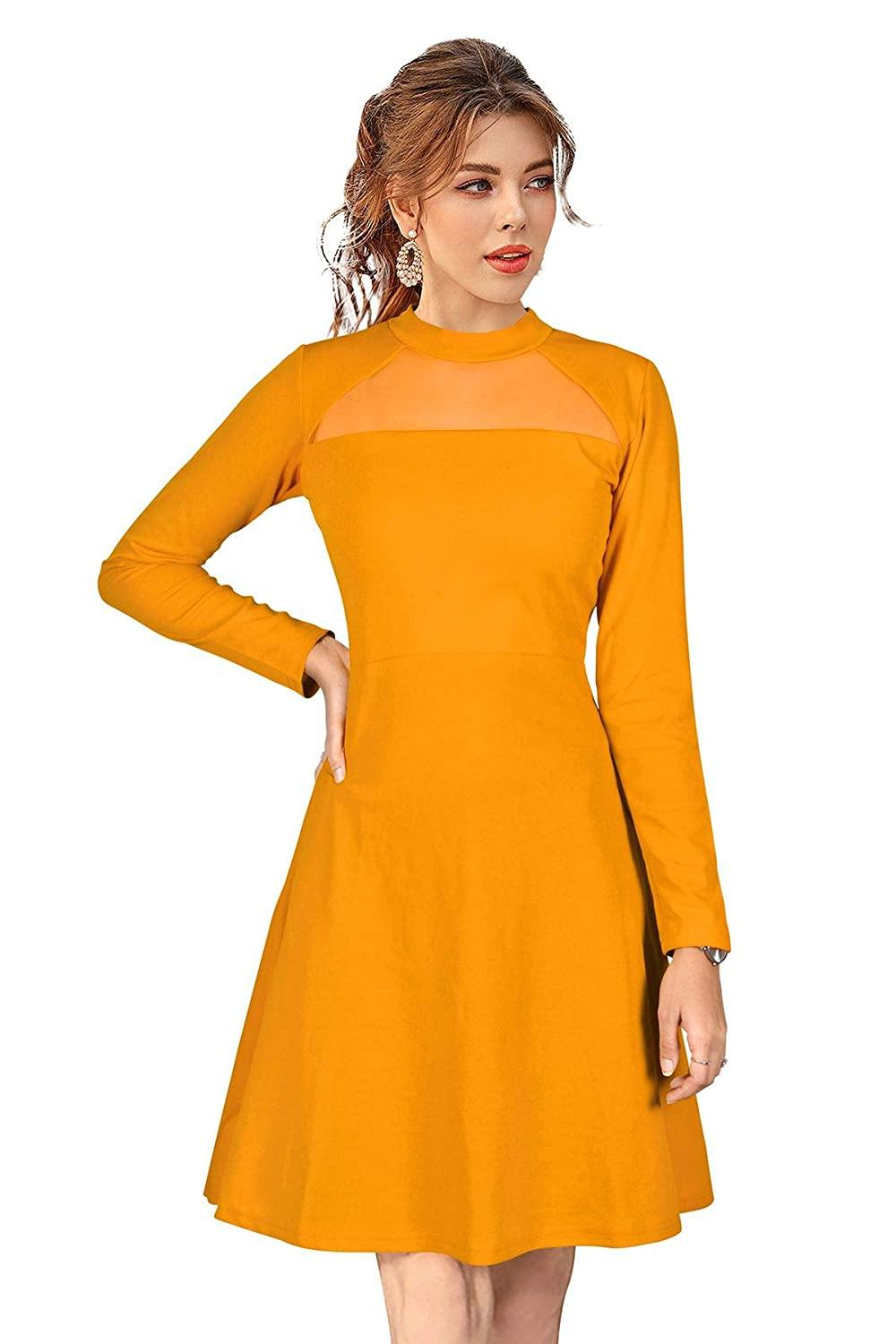 Kwirfy Western Knee Length Midi Dress - Kwirfy  - 2021 western dress, isha western dress, new, wester, western 2021, western dress, western suit, western top
