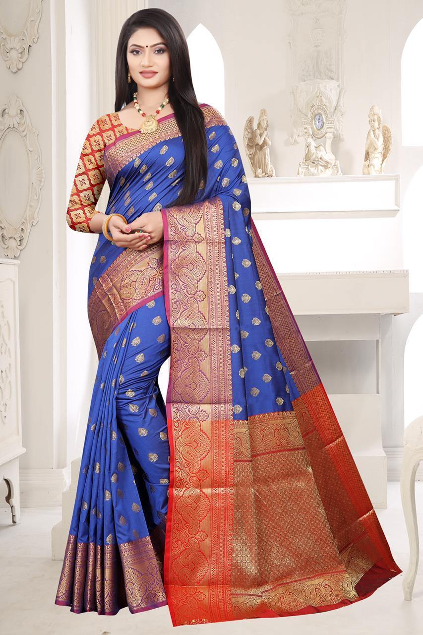 Lichi Silk Paithani  Saree with Rich Pallu - Kwirfy  - banarasi cotton saree, big panel cotton Saree, Cotton, cotton saree, cotton silk saree, lichi cotton aree, paithani saree, paithani saree kimat, Saree cotton, silk cotton saree, two tone cotton saree, White paithani saree