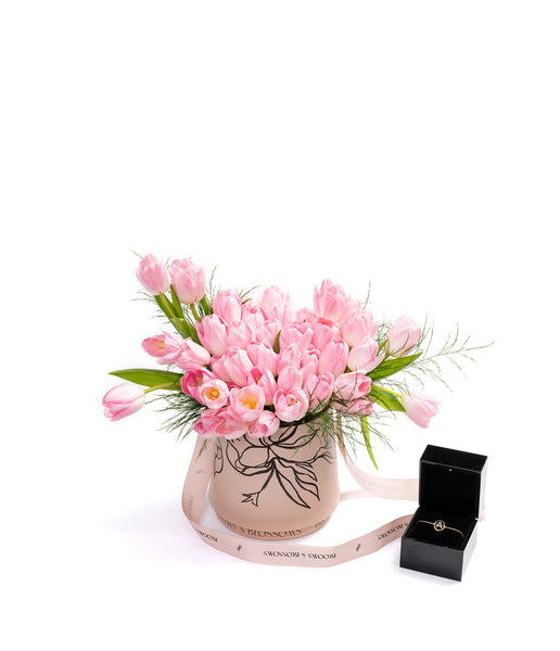 Blooms and Blossoms - Annoushka - Mother's Day - Diamond Initial Bracelet X Tulip's Bucket