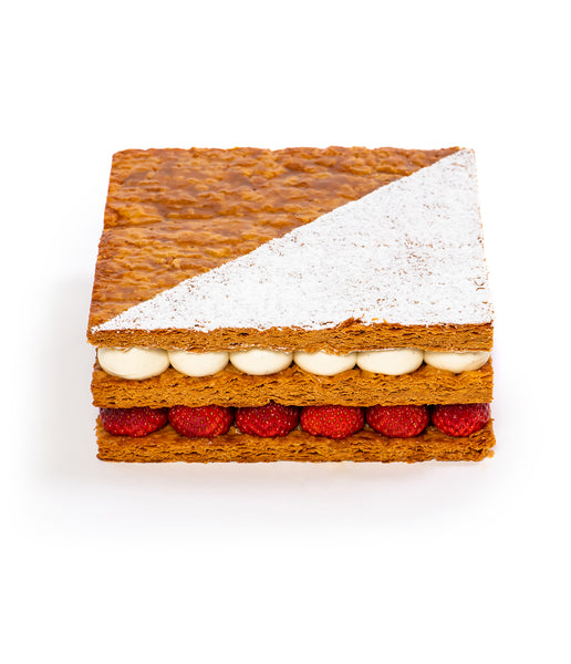 Strawberry Mille Feuille Cake Butterfly Patisserie cake shop Rosewood Hong Kong