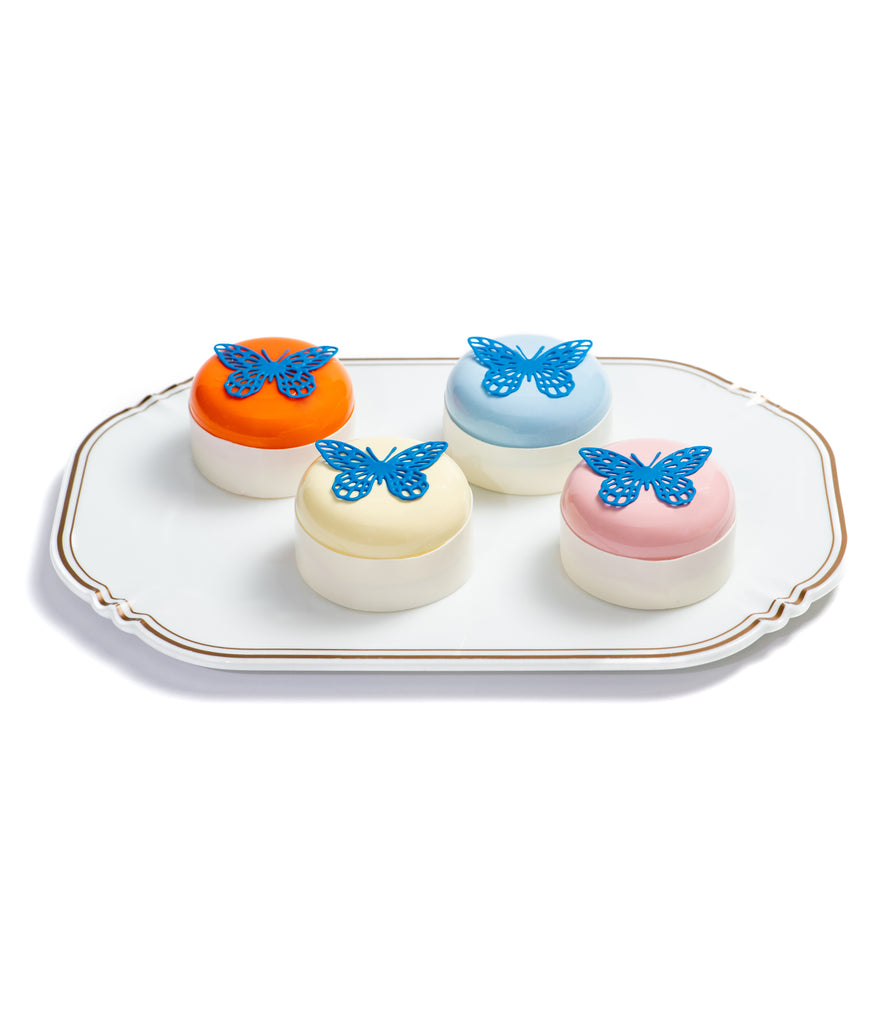 Set Of 4 Butterfly Strawberry & Vanilla Cakes - Butterfly collection Damien Hirst- Butterfly Patisserie