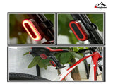 Ninja Led Rechargeable Usb Bicycle Tail Light Laser Waterproof Taillight Bike - FCP