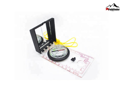Acrylic Plotting Mirror Scale Compass Map Scale Ruler Compass for Orienting and Map Measuring  - FCP