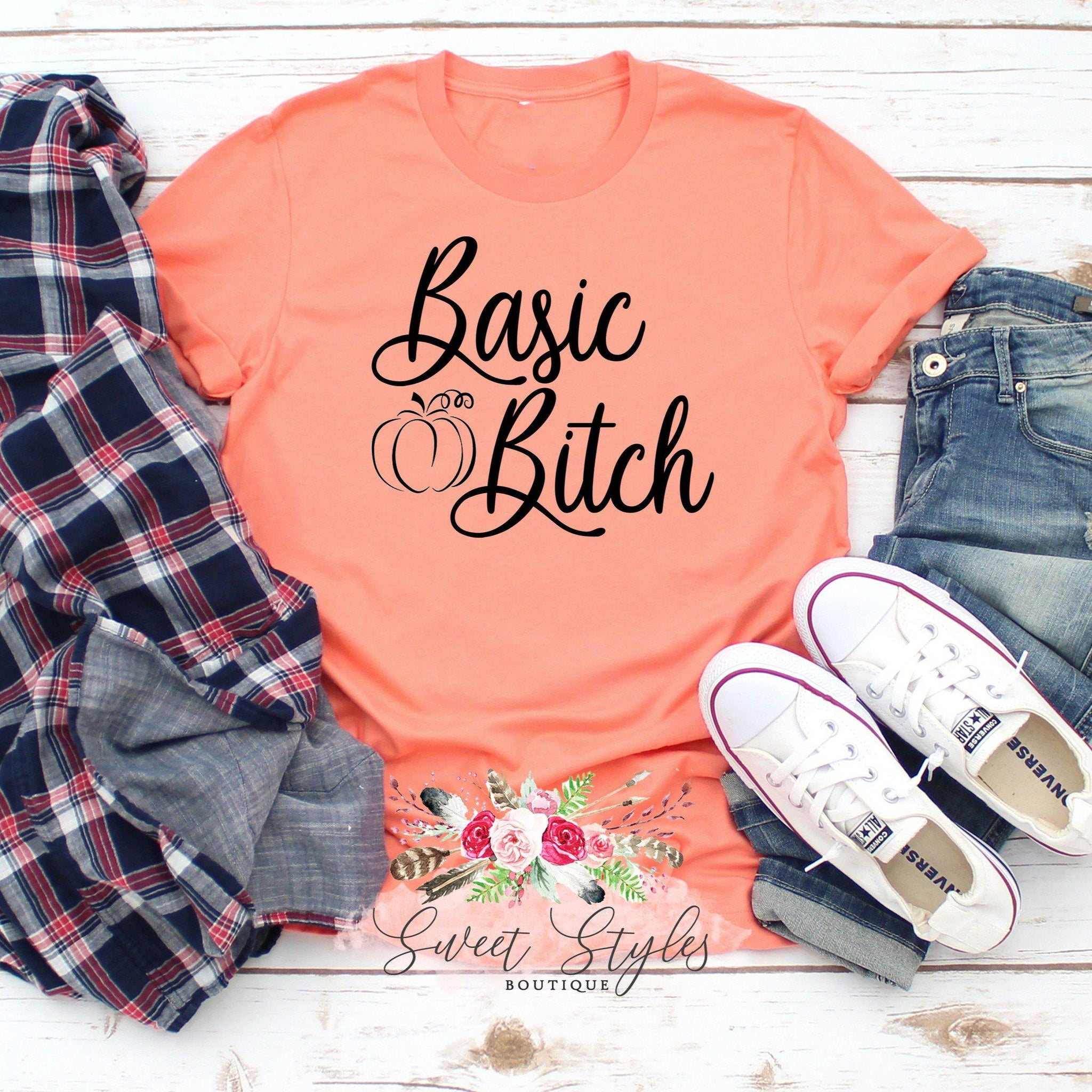 Basic Bitch Fall Halloween T-shirt-Sweet Styles boutique