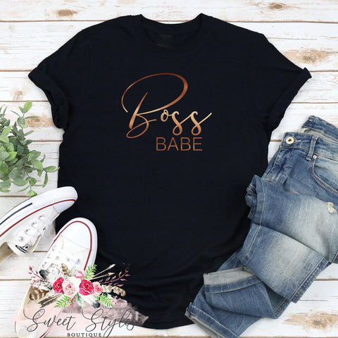 Motivational Fashionable Boss T-shirt-Sweet Styles boutique