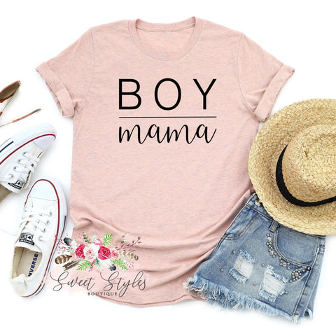 Boy mama T-shirt-Sweet Styles boutique
