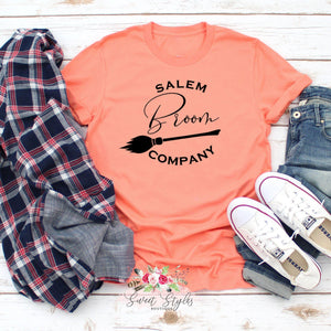 Salem broom company fall Halloween T-shirt-Sweet Styles boutique