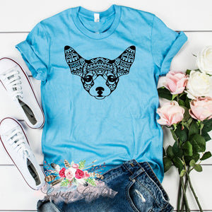 Chihuahua dog mandala T-shirt-Sweet Styles boutique