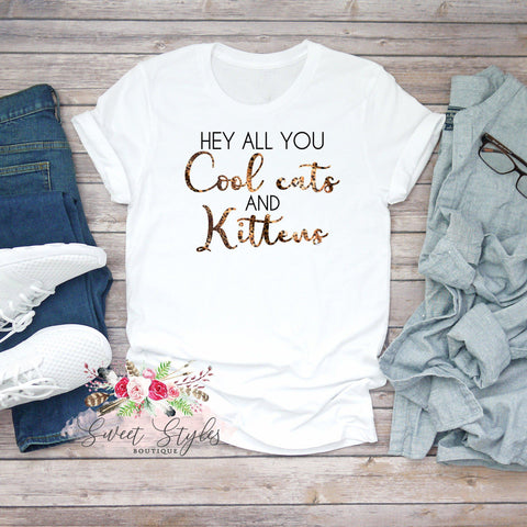 Tiger king cool cats and kittens T-shirt-Sweet Styles boutique