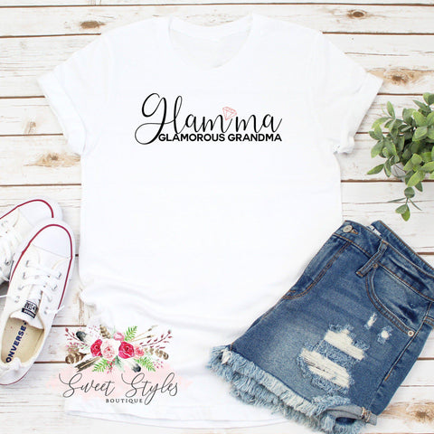 Glamorous grandmother glamma T-shirt-Sweet Styles boutique