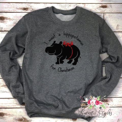 I want a hippo for xmas-Sweet Styles boutique