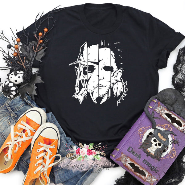 Horror movie character Halloween T-shirt
