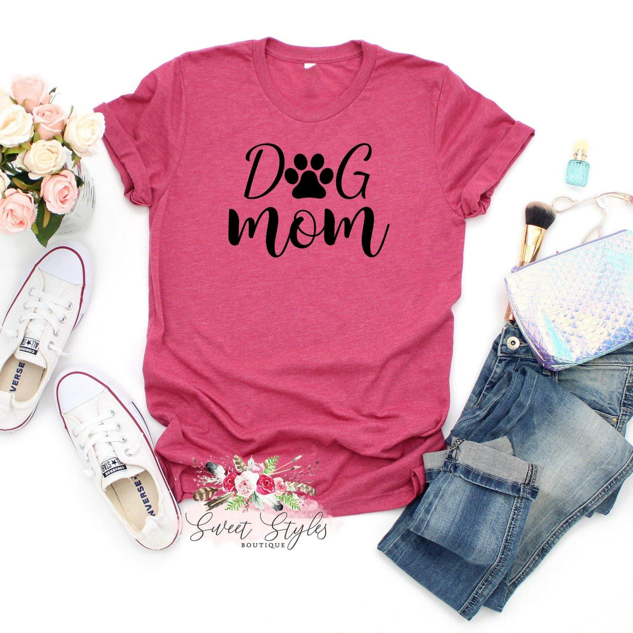 Dog mom T-shirt-Sweet Styles boutique