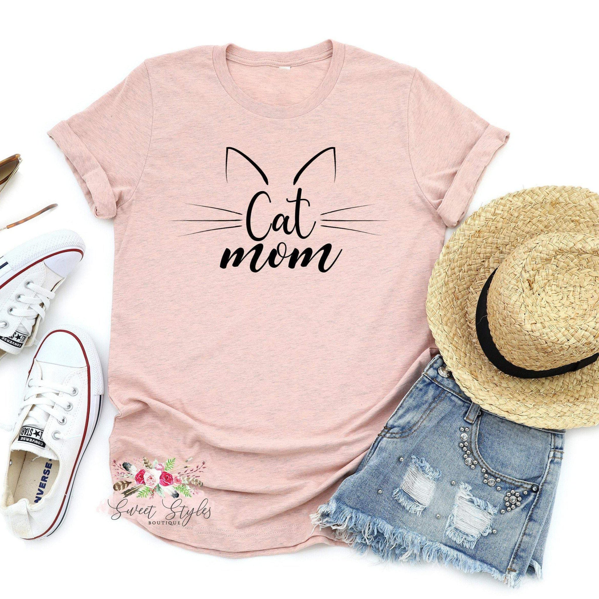 Cat Mom T-Shirt-Sweet Styles boutique