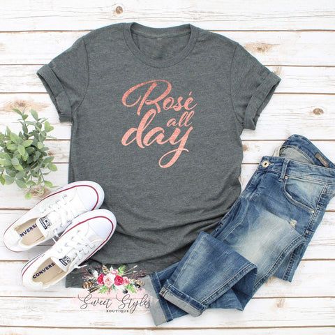 Rose all day T-shirt-Sweet Styles boutique