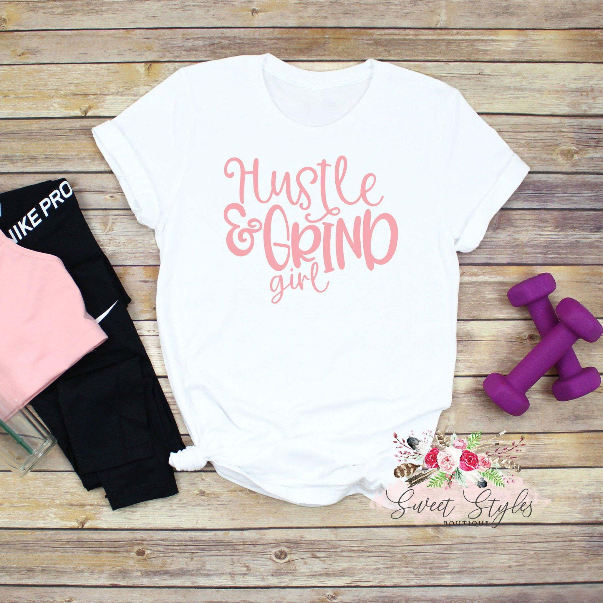 Hustle and Grind soft  T-Shirt-Sweet Styles boutique