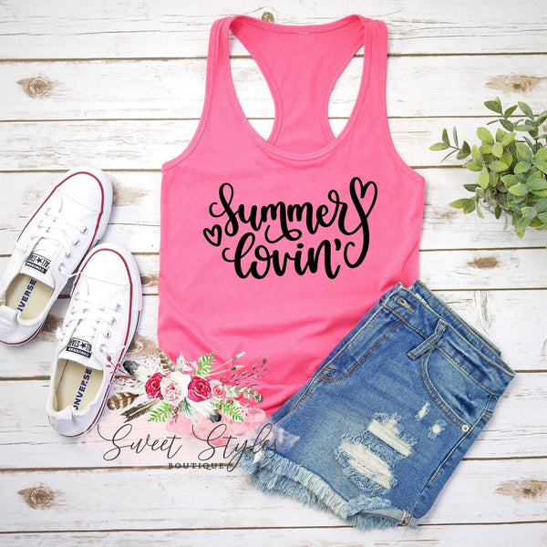Summer Lovin' flowy Tank Top-Sweet Styles boutique