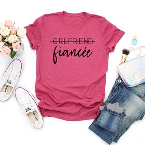 Getting married Girlfriend to fiancée T-shirt-Sweet Styles boutique