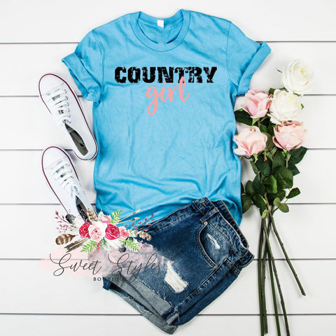 Country girl cowgirl T-shirt-Sweet Styles boutique