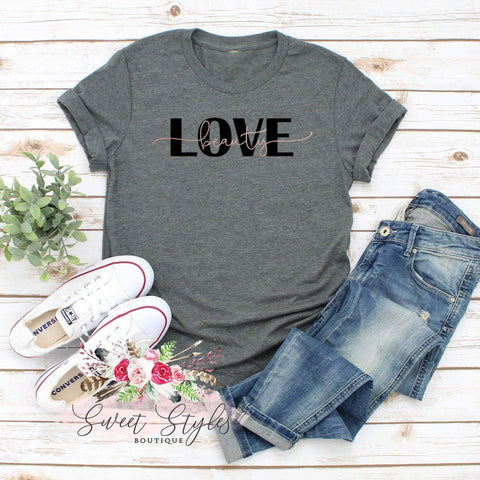 Love beauty rose gold T-shirt-Sweet Styles boutique