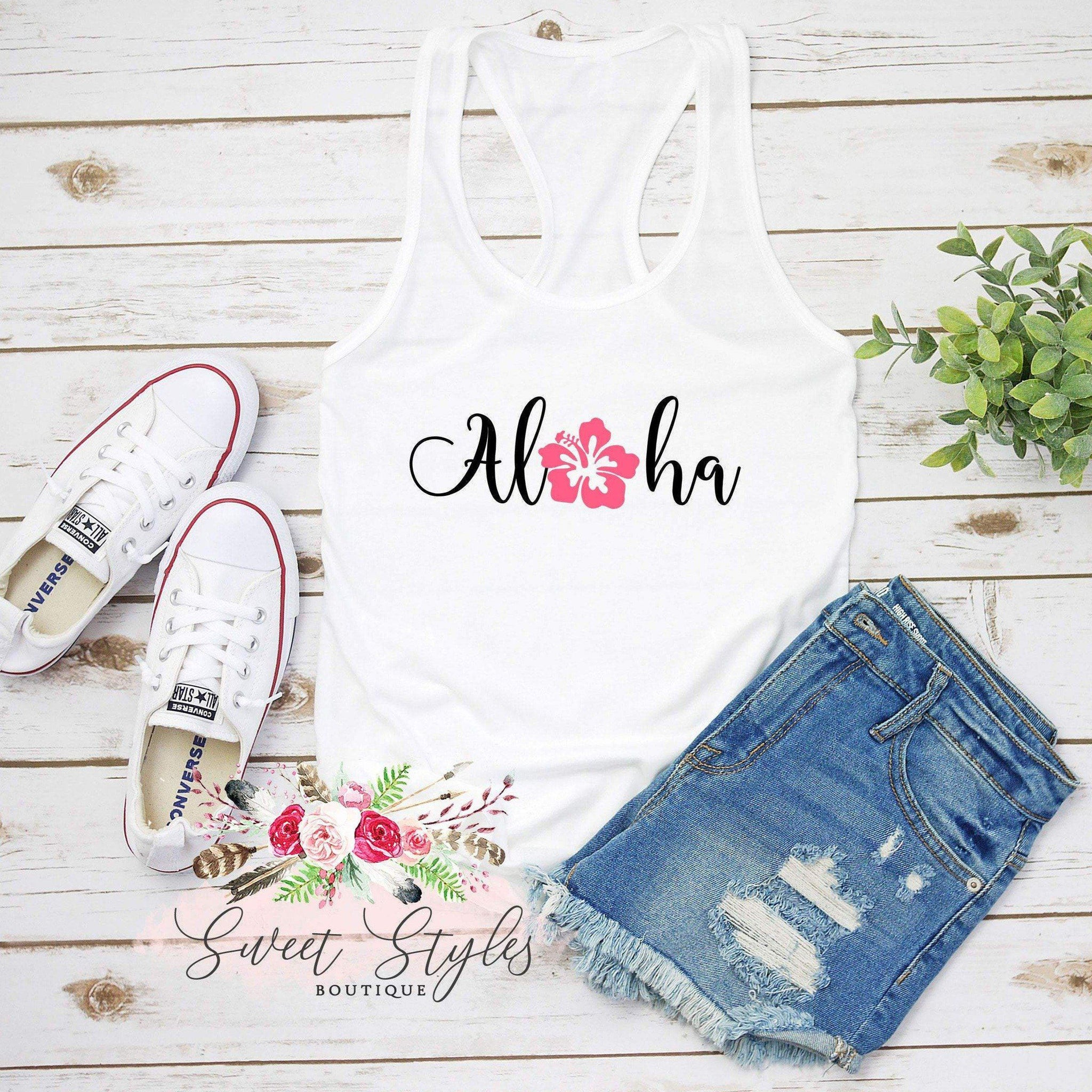 Aloha floral Tank Top-Sweet Styles boutique