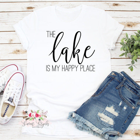 The lake is my happy place T-shirt-Sweet Styles boutique