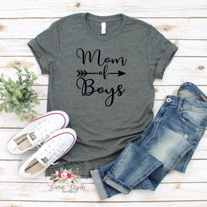 Mom of boys motherhood T-shirt-Sweet Styles boutique
