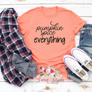 Pumpkin spice everything fall T-shirt-Sweet Styles boutique