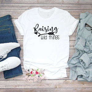 Raising wild things mom T-shirt-Sweet Styles boutique
