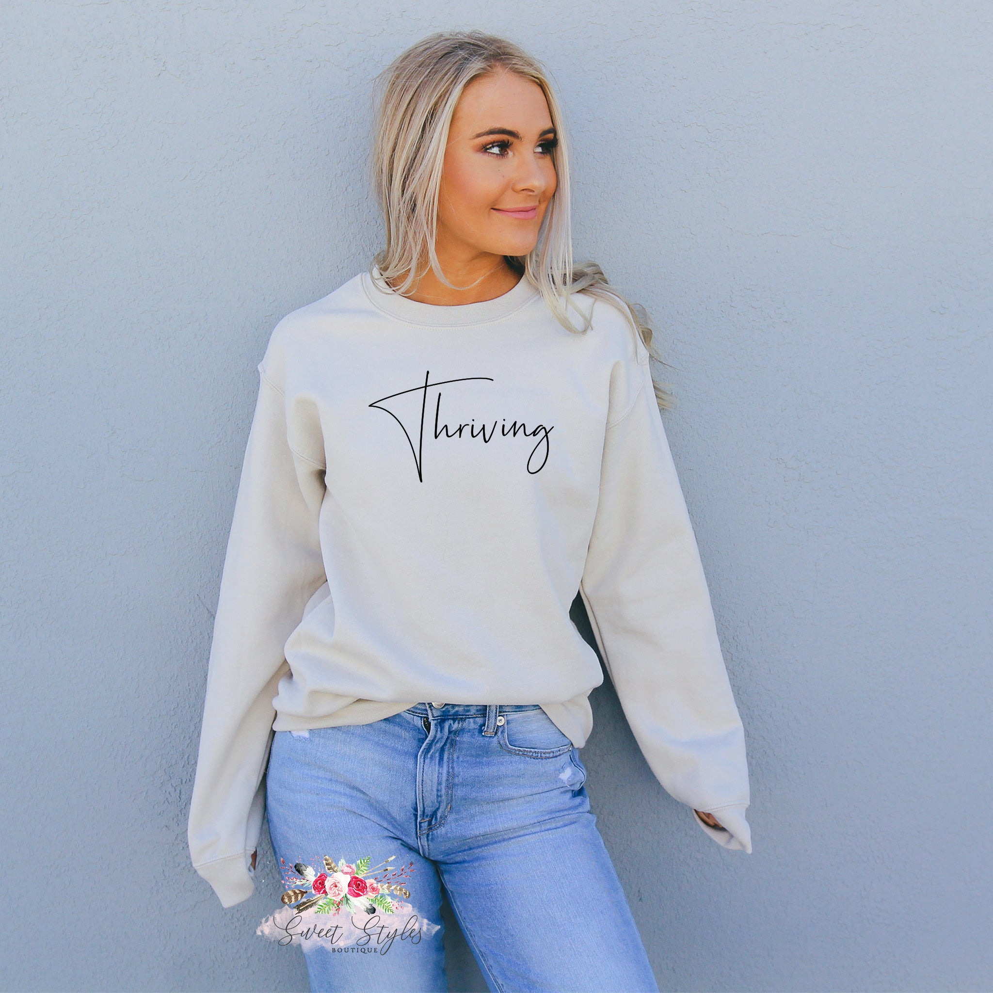 Thriving sweater-Sweet Styles boutique