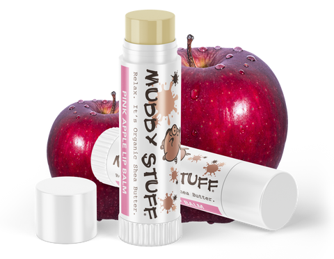 Muddy Stuff Organic Lip Balm: .15oz Pink Apple