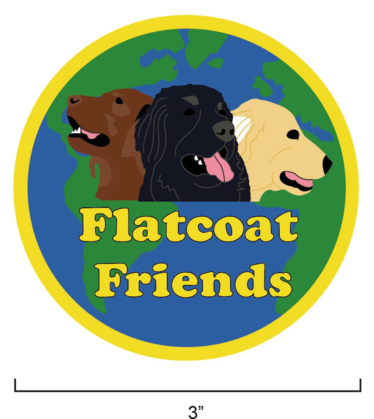 Flatcoat Friends Embroidered Badge.