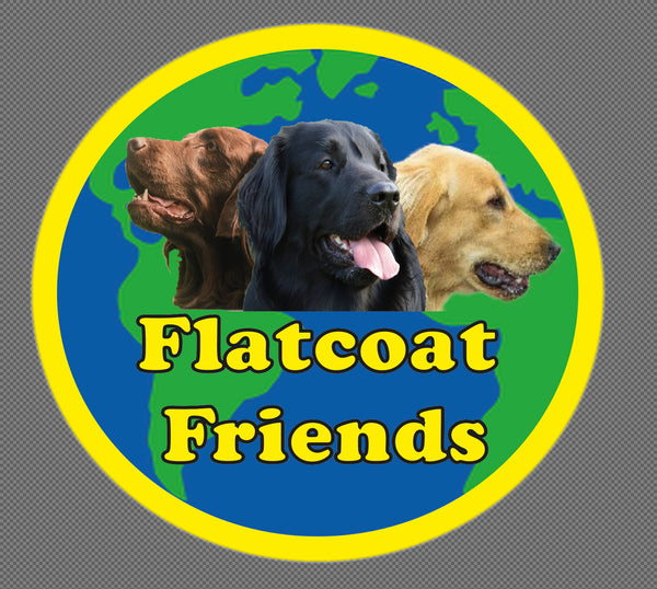 Flatcoat Friends Car/ Window sticker.