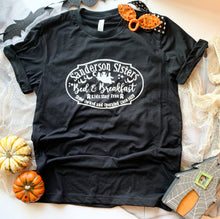 Load image into Gallery viewer, Hocus Pocus Bed & Breakfast T-shirt