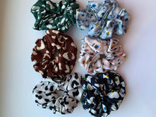 Load image into Gallery viewer, Cheetah Chiffon Scrunchie