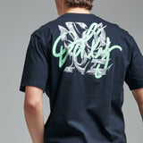 T-SHIRT DOLLY NOIRE Typography Neon Black TS025 01