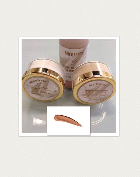 Milkfancy deep goat milk infused foundation set/free ship