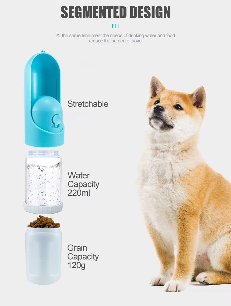 Pet Food and Water Bottle