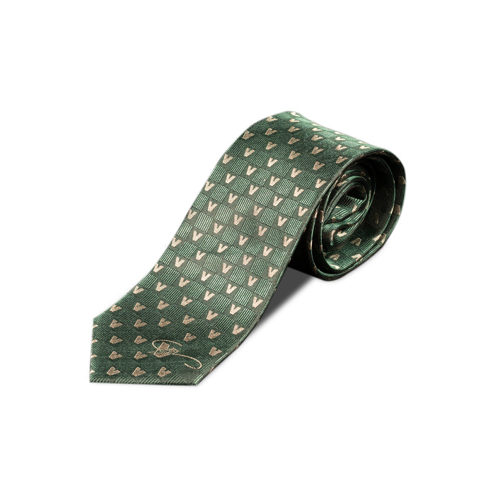 Green tie of Museo Vincenzo Vela