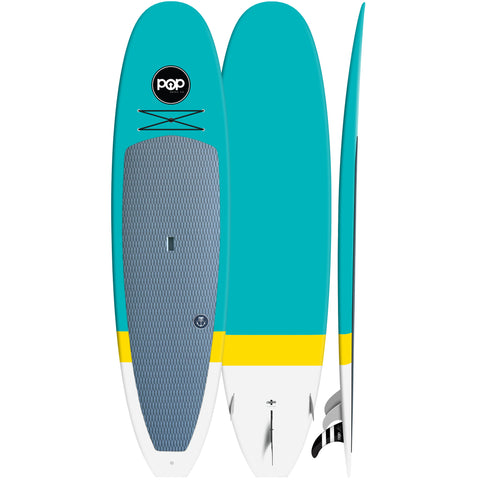 Pop Paddle Co. - 10'6″ Classico – Turquoise Stand Up Paddle Board