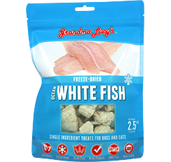 Grandma Lucy's Singles Freeze Dried Ocean White Fish Single Ingredient Pet Treats