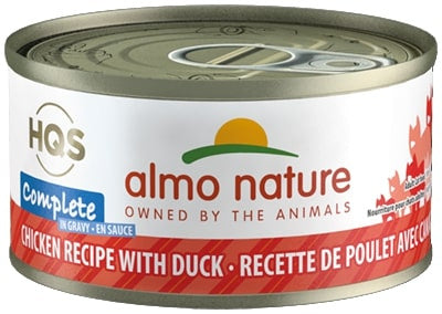 Almo Nature HQS Complete Cat Grain Free Chicken with Duck Canned Cat Food